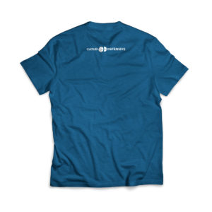 Cloud Defensive Logo T-shirt Back Blue