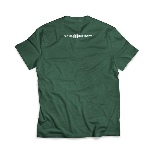 Cloud Defensive Logo T-shirt Back Green