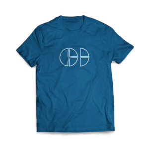 Cloud Defensive Logo T-shirt Front Blue