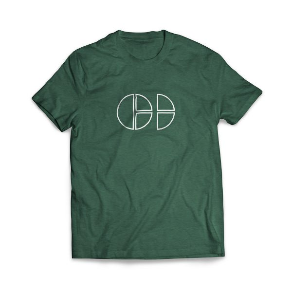 Cloud Defensive Logo T-shirt Front Green